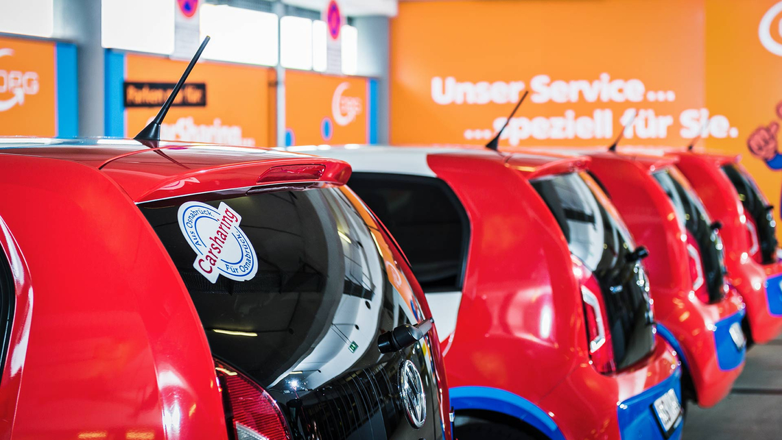 """Carsharing-Fahrzeuge unseres Kooperationspartners """"StadtTeilAuto"""""""