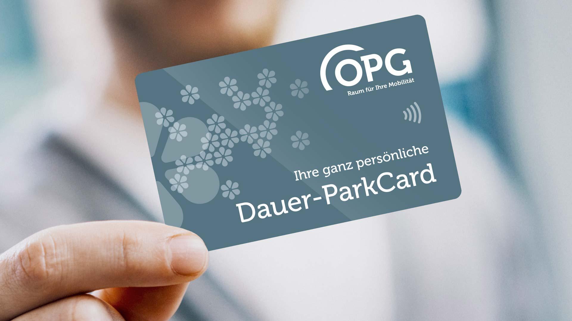 Mit der OPG Dauer-ParkCard mieten Sie einen verfügbaren Dauer-Parkplatz in einem OPG-Parkhaus Ihrer Wahl