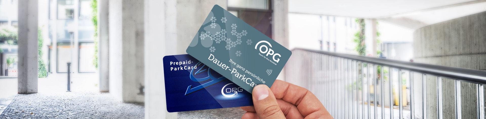 Mit den ParkCards der OPG genießen Kurz- und Langzeitparker größtmögliche Flexibilität ohne Kleingeldsuche