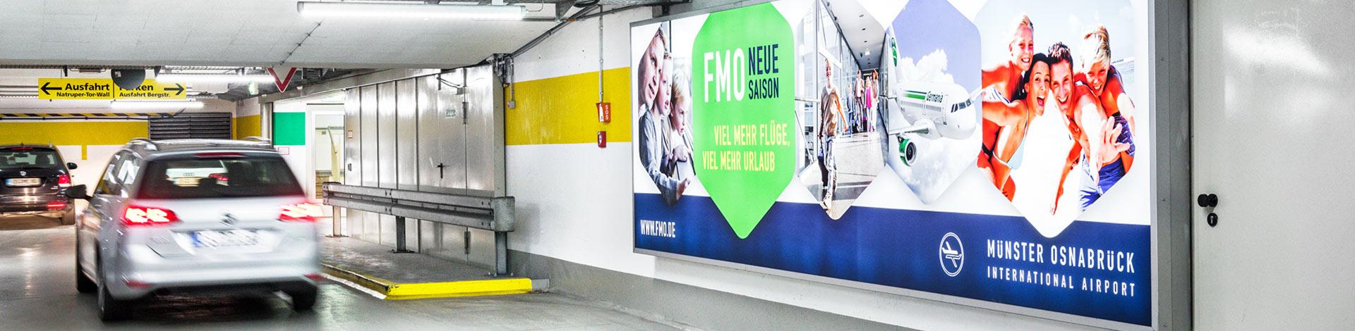 Die Osnabrücker Parkstätten-Betriebsgesellschaft bietet vielfältige Möglichkeiten der werblichen Kundenansprache.