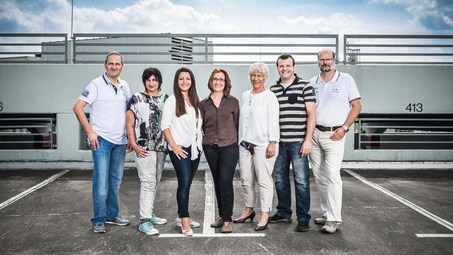 Das Team Administration der Osnabrücker Parkstätten-Betriebsgesellschaft