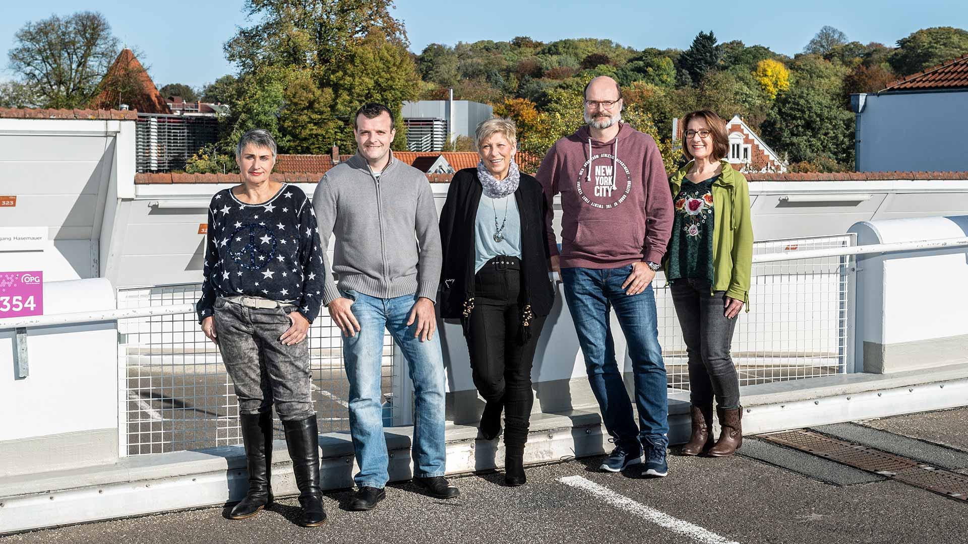 Das Team Leitstelle der Osnabrücker Parkstätten-Betriebsgesellschaft