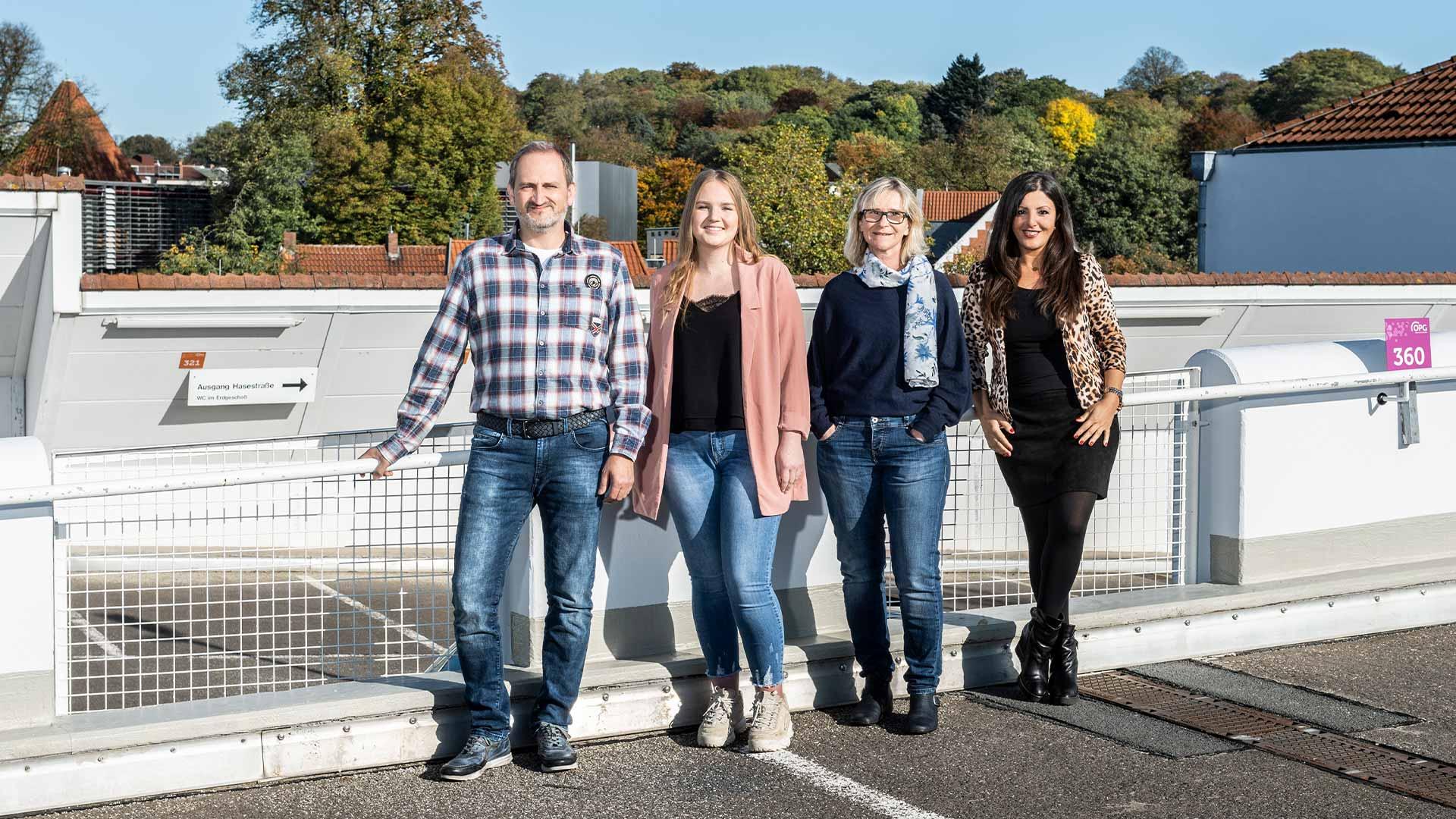 Das Team Verwaltung der Osnabrücker Parkstätten-Betriebsgesellschaft